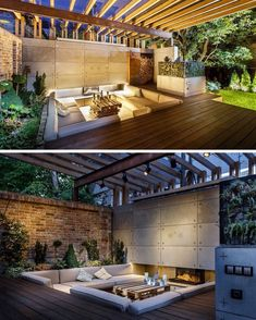 Loving this outdoor space! The sunken lounge!! The concrete and timber combo!!! #architecture #homedesign #lifestyle #style…