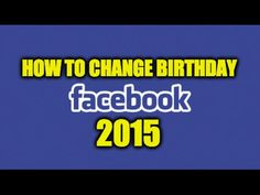 How To Change Your Birthday On Facebook -  #socialmarketing #socialmedia #socialmediamanager #social #manager #facebookmarketing How To Change Your Birthday On Facebook You can change your birthday on facebook if you entered it wrong or for whichever other reason, by following these quick steps: 1. Once you're logged into... - #FacebookTips