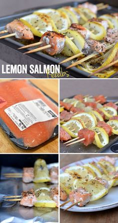 Lemon Salmon Kebabs via FitFoodieFinds.com #glutenfree #paleo