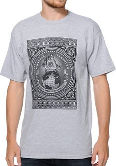 Obey Hostile Take Over Heather Grey Tee Shirt at Zumiez : PDP