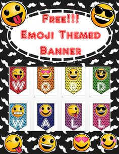 Banner for your Word Wall Freebie!!! Emoji ThemedYour students will love these Emojis! These can be printed one  letter banner to a page to create a…
