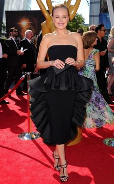 Fabulously Spotted: Malin Akerman Wearing Vintage Victor Costa - 2013 Creative Arts Emmy Awards  - http://www.becauseiamfabulous.com/2013/09/malin-akerman-wearing-vintage-victor-costa-2013-creative-arts-emmy-awards/