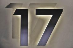 LED Hausnummer aus Edelstahl