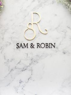 Sam + RobinGrand Victoria Hotel . Wedding Wedding Logo Design, Wedding Logos, Wedding Cards, Hotel Wedding, Monogram Design, Monogram Logo, Lettering Design, Wedding Logo Inspiration, Logo Design Inspiration