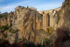 View of Ronda and cliffs, AndalucпїЅa, Spain -