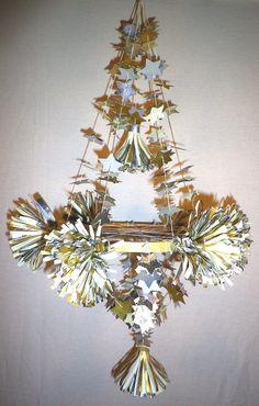 metallic paper chandelier // parcel