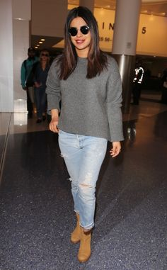 Priyanka Chopra from The Big Picture  The Quantico star gives off a smile after a flight into LAX.