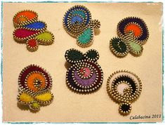 Small brooches of zippers | Flickr - Photo Sharing!
