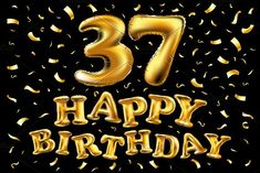vector happy birthday celebration gold balloons and golden confetti glitters. Illustration design for your greeting card, invitation and Celebration party of fifty two 52 years. Birthday Wishes For Him, Happy Birthday Cakes, Birthday Greetings, Birthday Cards, Birthday Gifts, Metallic Balloons, Gold Balloons, Bee Crafts For Kids, Birthday Numbers