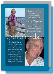 70h birthday party invitation ideas | birthday invitation wording 75th birthday ideas 75th birthday party ...