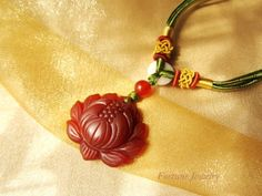 Feng Shui Lotus Flower Red Chalcedony Pendant Necklace - Feng Shui Fortune Jade Jewelry Fortune Jewelry & Healing Beauty,http://www.amazon.com/dp/B00B3URKK4/ref=cm_sw_r_pi_dp_vmUssb0NEP72XHCP