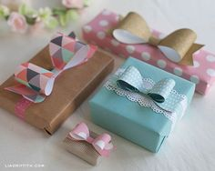 Paper Bow Templates in Four Sizes. . . Perfect for Spring