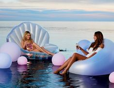 This Light-Up Pool Float Is Basically the Waterproof Version of Your '90s Bean Bag