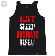 FTD Apparel Men's Eat Sleep Dominate Repeat Tank Top - Large Black (*Amazon Partner-Link)