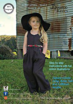 Girls PDF pattern BB's Jumpsuit Sizes 2  8 by BugalooBasics