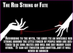 """The red string of fate., want a way to """"tie"""" this in with my wedding theme for the future"""