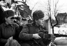 Women in the Soviet Army, in World War 2.