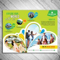 Travel Flyer - New Site Food Graphic Design, Graphic Design Brochure, Corporate Brochure Design, Creative Poster Design, Brochure Layout, Branding Design, Banner Design, Flyer Design, School Brochure