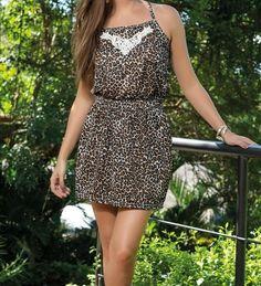 Vestido de Oncinha com Renda - DMS Boutique