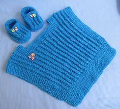 Agulhas e Pinceis: Coletinho e sapatinho de tricô para bebê - COM RECEITA