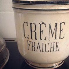creme fraiche crock - Brocante Society