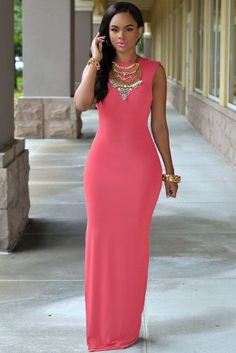 New 2015 Summer Holiday Floor Length Backless Dresses 3 Colors Sleeveless O-Neck Slit Sexy Maxi Dress Mono Mujer Corto Side Slit Maxi Dress, Sexy Maxi Dress, Sexy Dresses, Casual Dresses, Fashion Dresses, Dress Up, Swing Dress, Evening Dresses, Vestidos Sexy