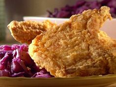 recipe for chicken fried pork chops with chunky pear chutney :: Sunny Anderson