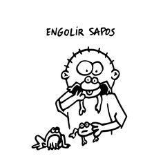 """""""Engolir Sapos"""" - Fazer algo contrariado; ser alvo de insultos/injustiças/contrariedades sem reagir, acumulando ressentimento"""