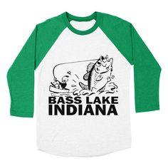 Bass-Lake-Indiana Women'S Baseball-Triblend-T-Shirt by Orangezeromax