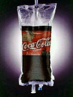 Coke IV bag - I know some people that would prefer Dr. Coca Cola Life, Coca Cola Santa, World Of Coca Cola, Coke Ad, Pepsi, Coca Cola Addiction, Coca Cola Decor, Cocoa Cola, Always Coca Cola