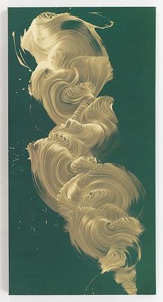 James Nares, represented by the Paul Kasmin Gallery, creates these beautiful large scale oil paintings on a linen canvas.