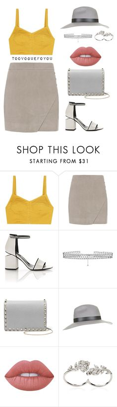 """#530"" by toovoguefoyou ❤ liked on Polyvore featuring Isa Arfen, Michelle Mason, Alexander Wang, DANNIJO, Valentino, Topshop, Lime Crime and Apples & Figs"