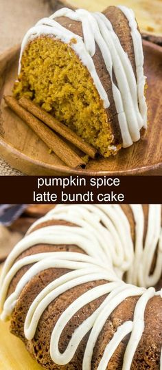 Light, airy, moist and delicious this Pumpkin Spice Latte Bundt Cake takes one of your favorite fall drinks and turns it into an epic and tasty dessert!