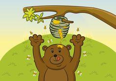 Cuento con valores: Tosco y las abejas Tosco era un oso que vivía en un hermoso bosque de pinos. Siempre que encontraba un panal de miel, cogía toda la miel para sí y le llevaba un poco a su madre. Pero cuando llegaba a su cueva con la miel tenía muchas picaduras de abeja, y …