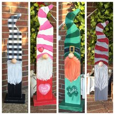 Dress your porch with our decorative porch gnomes! Christmas Wood Crafts, Christmas Signs Wood, Christmas Gnome, Christmas Projects, Holiday Crafts, Craft Day, Craft Night, Cute Crafts, Diy Crafts