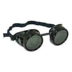 Black Welding Cup Goggles - Eye Cup - Impact resistant shaded welding goggles with a comfortable and easily adjustable elastic headband. Great for gas welding, burning, brazing and cutting. Also a great fully customizable costume accessory! Welding Glasses, Welding Goggles, Welding Tools, Goggles Glasses, Lenses Eye, Steampunk Goggles, Eye Protection, Binoculars, Soldering