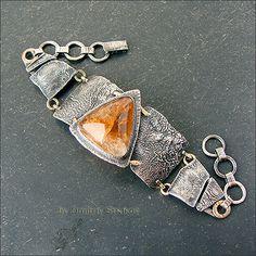 Strukova Elena - copyrights jewelry - Bracelet with citrine