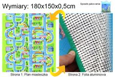 Duże i grube piankowe dywaniki Babypol : 0402 Dywanik Babypol jednostronny cienki - Plan miasteczka
