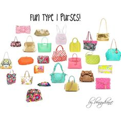 Fun Type 1 Purses! by bonnydianne on Polyvore featuring Jimmy Choo, Vera Bradley, Nica, Henri Bendel, Just Cavalli, Roxy, Forever New, Melie Bianco, Hermès and Christian Louboutin