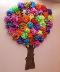 Recycled Dream Spring Tree Flower Crafts Paper Flower Crafts