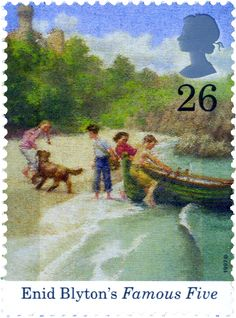 Famous Five  #SpecialStamp from 1997 'Birth Centenary of Enid Blython Famous Five Books, The Famous Five, Enid Blyton Books, Uk Stamps, Postage Stamp Art, Vintage Children's Books, Children's Book Illustration, Mail Art, Stamp Collecting