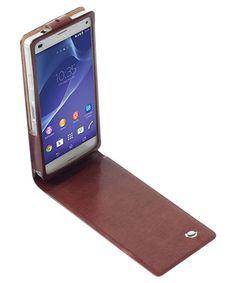 Krusell Kalmar WalletCase Sony Xperia Z3 Compact Bruin