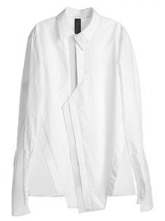 BYUNGMUN SEO - Asymmetric Collar Shirt - 16SSBMSH-04 WHITE - H. Lorenzo