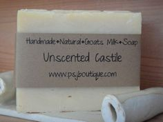 Unscented All Natural Castile Goats Milk Soap excellent for sensitive skin. Made with pure olive oil makes this soap very rich, creamy & silky. Click on pic then click on pic again.