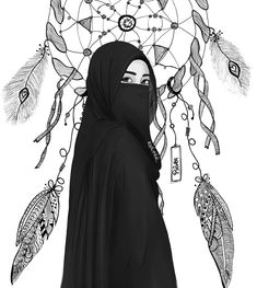 The actual scarf is an essential piece within the attire of girls using hijab. Because it is central to the a Cartoon Kunst, Cartoon Drawings, Cartoon Art, Cartoon Characters, Girls Anime, Anime Art Girl, Hijab Anime, Hijab Drawing, Islamic Cartoon