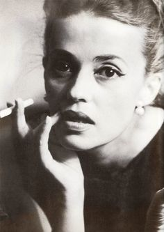 Jeanne Moreau photographed by Dan Budnick for Vogue magazine, 1962