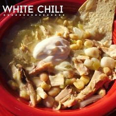 I was first introduced to this comforting White Chili (chicken soup) when we ate at my mother-in-laws home years ago.  I've since taken it on, and made it so many times, it's become my own.  The limes really add a nice zest to the flavor.