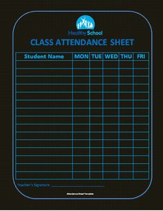 Image Result For Excel Attendance Sheet  Template