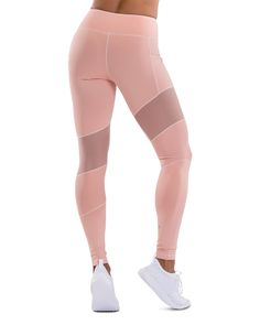 ...The TLF Margoux Legging is a high-waist pant. It features diagonal pieces of mesh overlay and texture running down the legs, adding extra style and edge. You can wear this legging to the gym or around town.