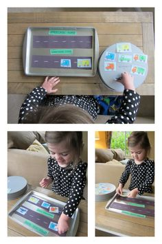 Alphabet game for preschool: sorting upper and lowercase letters.